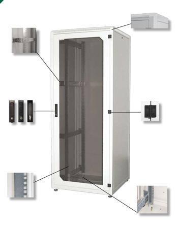 Підлогові розподільні шафи серії ROF - суцільнозварні
