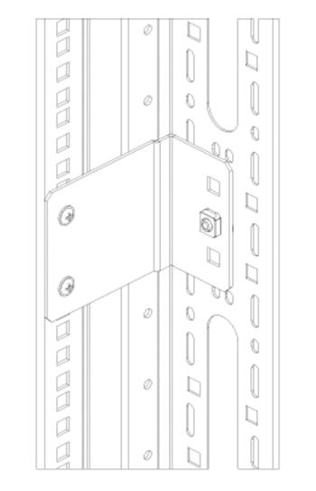 Держатели для вертикальных кабельных организаторов и скоб