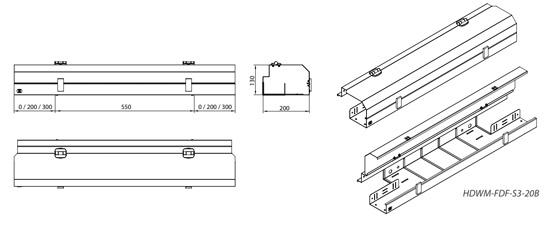 Фронтальный кабельный канал для открытых стоек